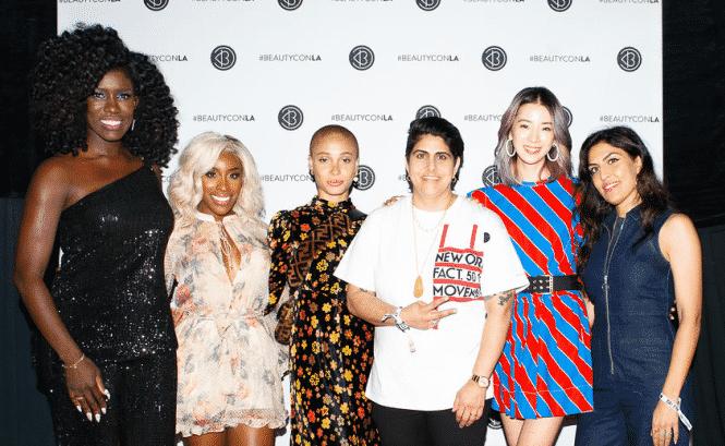 Beautycon Los Angeles 2018 Bozoma São João, Jackie Aina, Adão, Aboah, Moj Mahdara, Irene Kim e Melody Ehsani