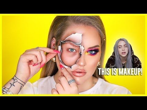 BILLIE EILISH Inspired PAPER Makeup... WTF!