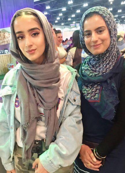 Beautycon LA Mulheres em Hijabs