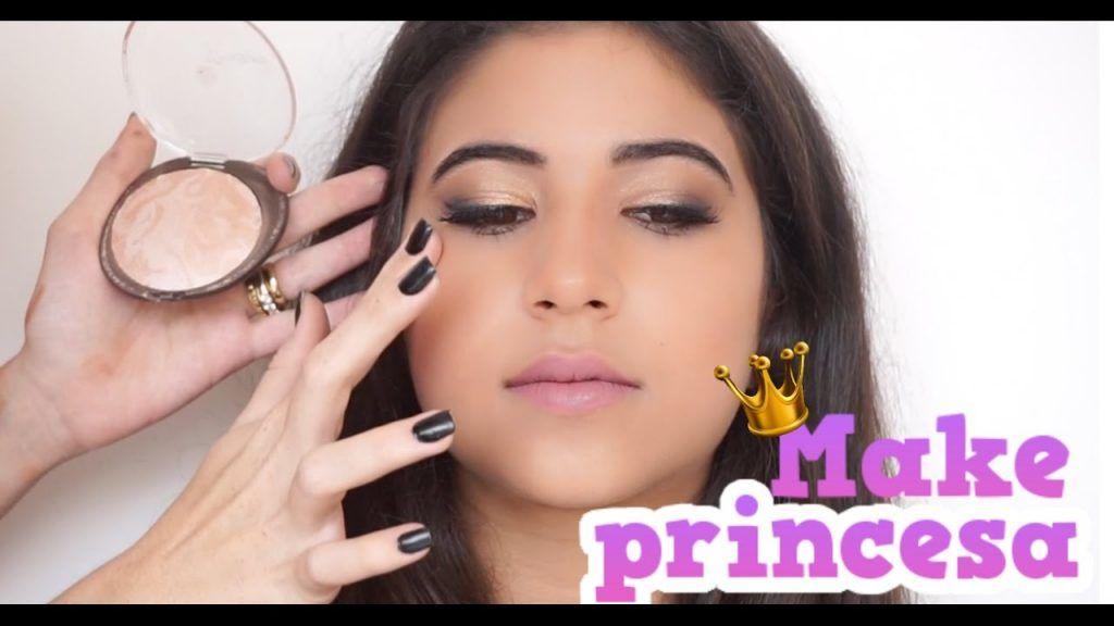 Maquiagem Para pre adolescente! MAQUIEI UMA PRINCESA!