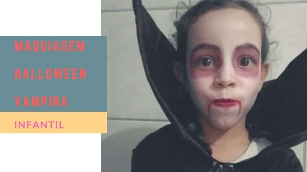 Maquiagem vampira infantil   Juliana Barreto