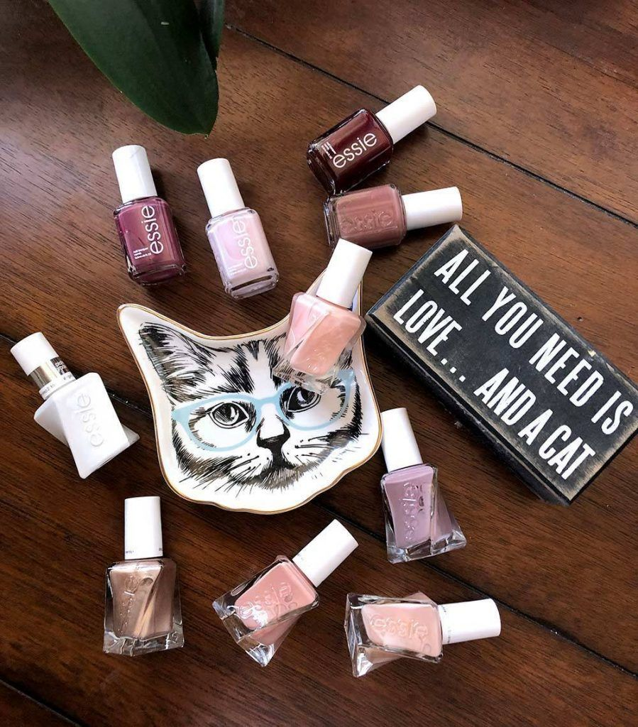 essie nail polish all you need is love and a cat