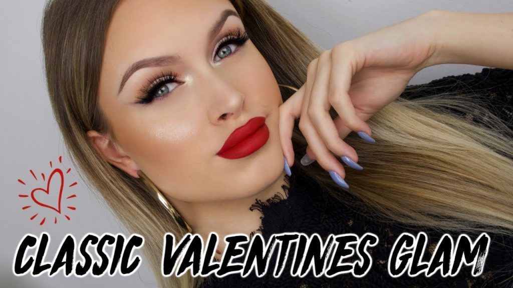 SOFT SMOKEY EYELINER & CLASSIC RED LIPS ♡ VALENTINES DAY MAKEUP TUTORIAL 2019