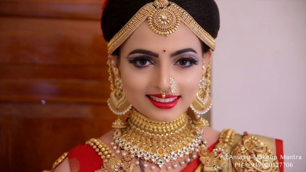 best maharatian letest bridal makeup maha laxmi look anurag makeup mantra call inquiry 9920127706