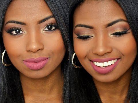 Maquiagem olhar marcante em tons quentes | Pele negra