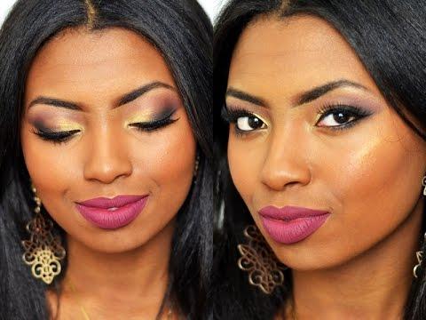 Esfumado Diagonal   Maquiagem Pele negra Por Camila Nunes