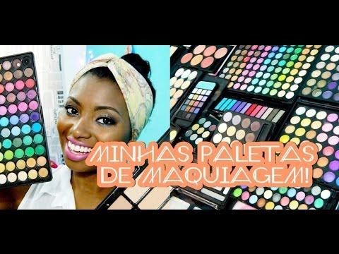 Minhas paletas de maquiagem - Por Camila Nunes