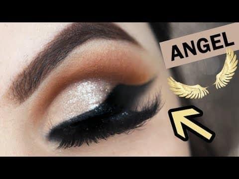 COMO FAZER Delineado ASA DE ANJO - Makeup Tutorial Angel Wings Eyeliner