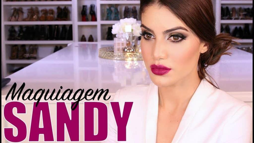 Maquiagem Sandy - Programa Super Star