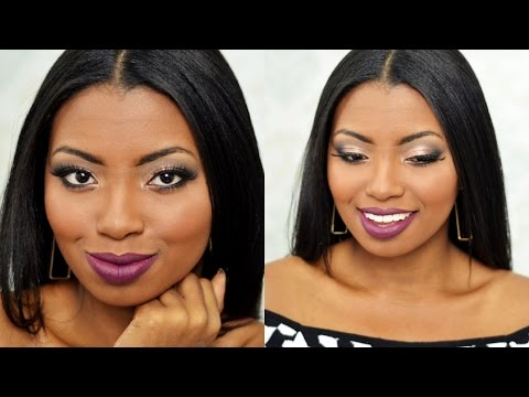 Maquiagem madrinha de noite | passo a passo pele negra - Por Camila Nunes