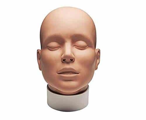 Maquiagem profissional de Mehron e cabeça de prática de estudante de pintura de rosto