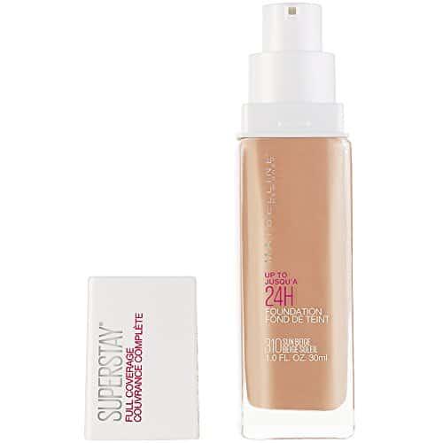 Maybelline Nova Iorque Super Fique Cobertura Completa Liquid Foundation Maquiagem, Sun Beige, 1 fl. oz.