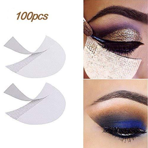 LKE 100 pcs sombra stencils profissional sem fiapos sob o olho da sombra Pad gel Patches para extensões de cílios / lábio maquiagem