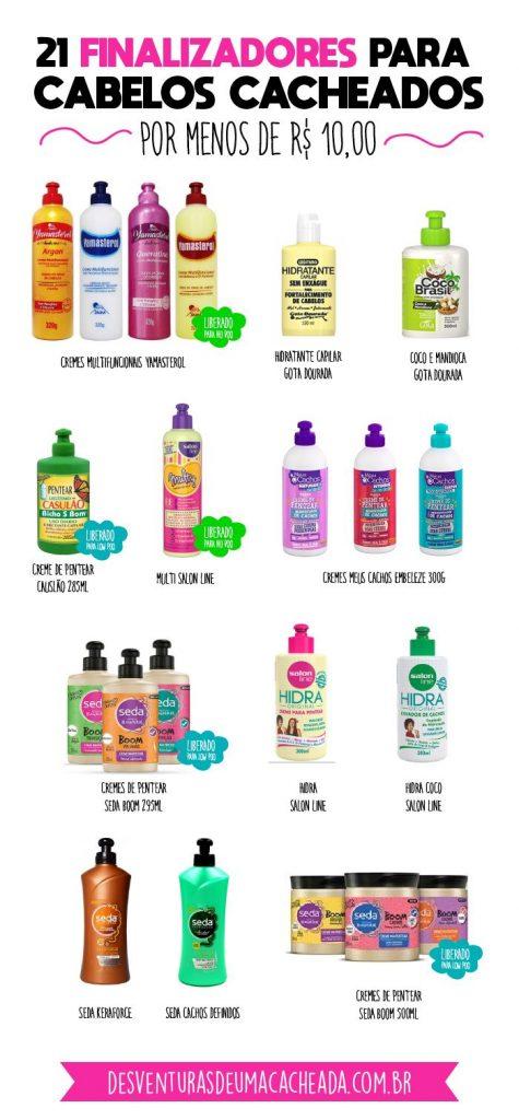 Produtos baratos para cabelos cacheados