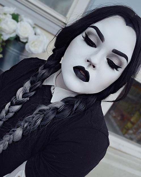 maquiagem de Halloween simples olha no último minuto