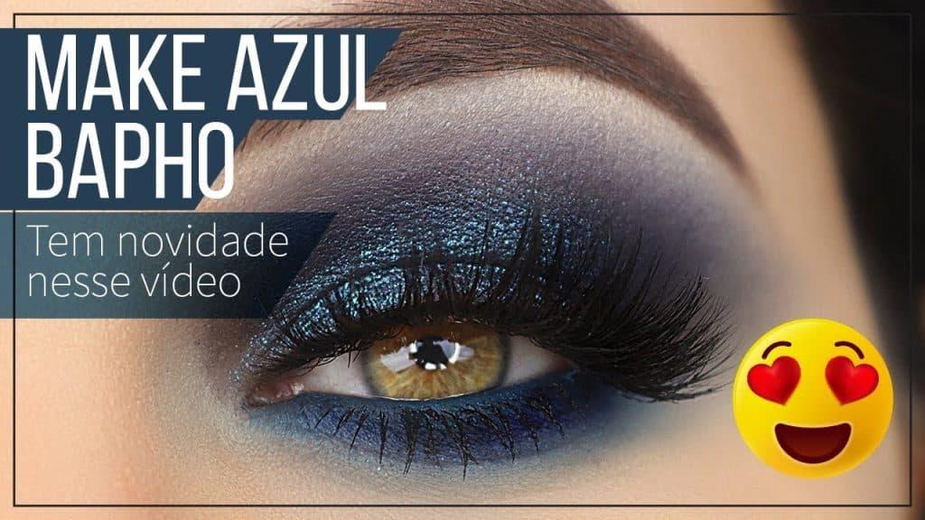 Esfumado Azul Efeito Profissional - TEM SPOILER NESSE VÍDEO - Dark Blue Makeup Tutorial