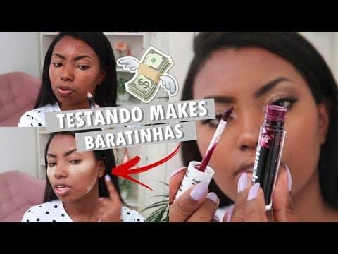 MAQUIAGEM COMPLETA COM PRODUTOS BARATINHOS Camila Nunes