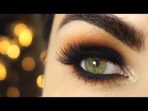 Olho preto esfumado de verão