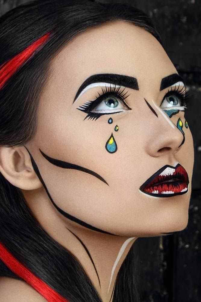 Halloween - maquilhagem e maquilhagem # Maquilhagem # Halloween # make-up # make-up