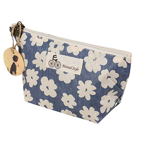 Graperan Cosmetic Bag Mulheres Cerejeiras Impressão maquiagem 22813 centímetros organizador Profissional, Azul
