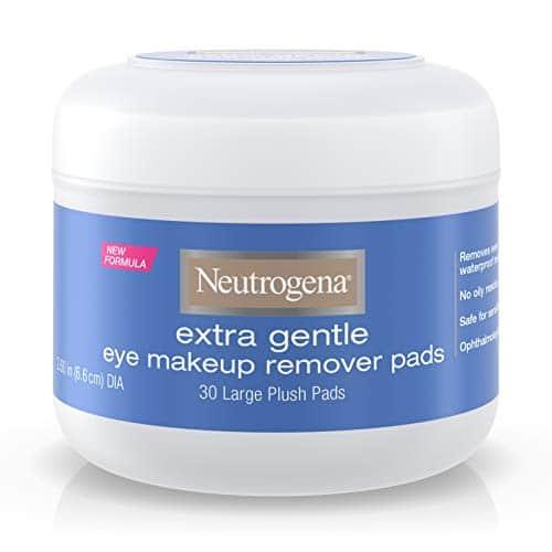 Neutrogena Extra Gentle Eye Makeup Pads Removedoras, Pele Sensível 30 Count (Pack of 2)