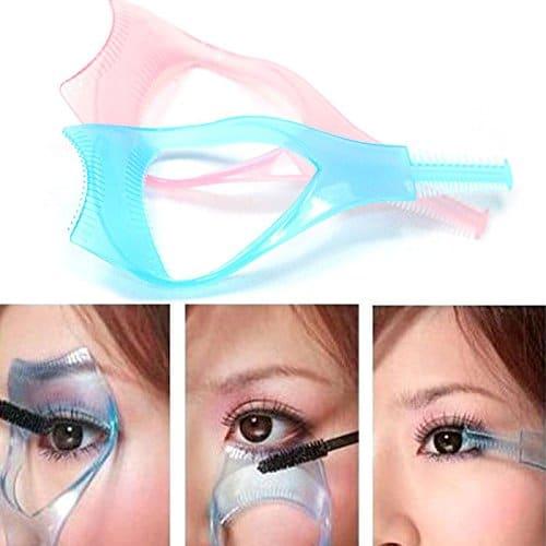 Yueton 2 pcs 3 em 1 Ferramenta de Cílios Maquiagem Upper Lower Lash Mascara Aplicador Guia Pestana Pente Ferramenta Cosmética