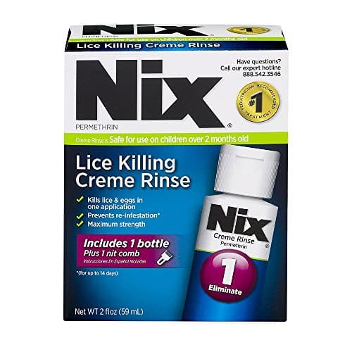 Nix Lice Treatment Cream Lave 2 oz. (2 pacotes)