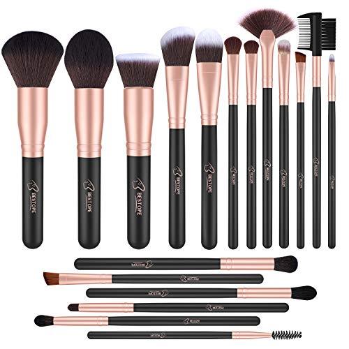 BESTOPE Pincéis de Maquiagem 18 PCs Pincel de Maquiagem Set Premium Fundação Sintética Em Pó Kabuki Escovas Corretivos Sombras de Som Make Up Brushes Kit