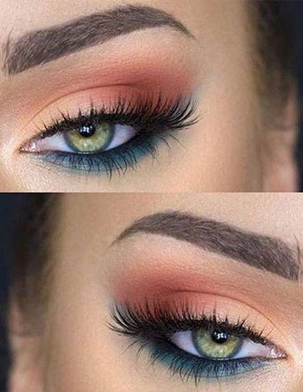 Seis idéias de maquiagem de olho de noiva casamento dia