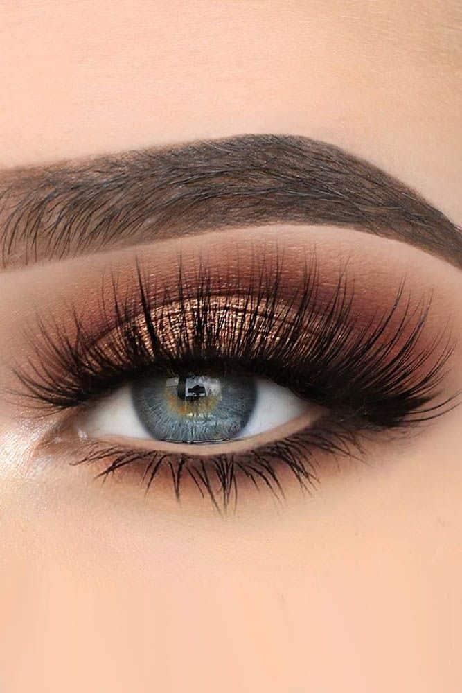 Idéias de maquiagem de olhos azuis ❤ Leia mais: www.weddingforwar ... #weddingforward #b