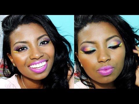 #PELENEGRA - Maquiagem para o carnaval - Bem colorida - Por Camila Nunes