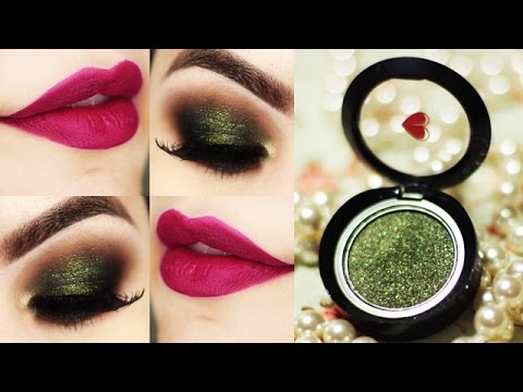 Makeup com a sombra Verdelícia e batom Uvali da quem disse, berenice? - Maquiagem Olho Esfumado