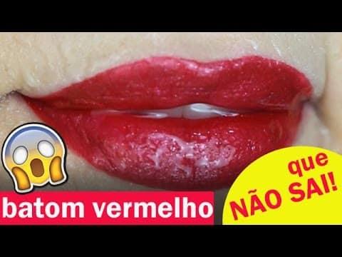 O BATOM VERMELHO QUE NÃO SAI E NÃO BORRA!