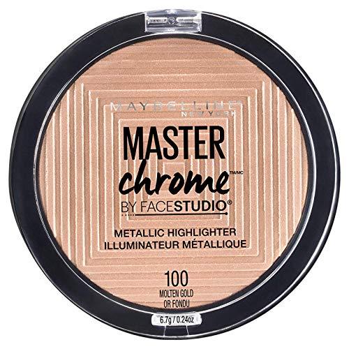 Pó marcador metálico Maybelline Master Chrome, ouro derretido, onça de 0,24