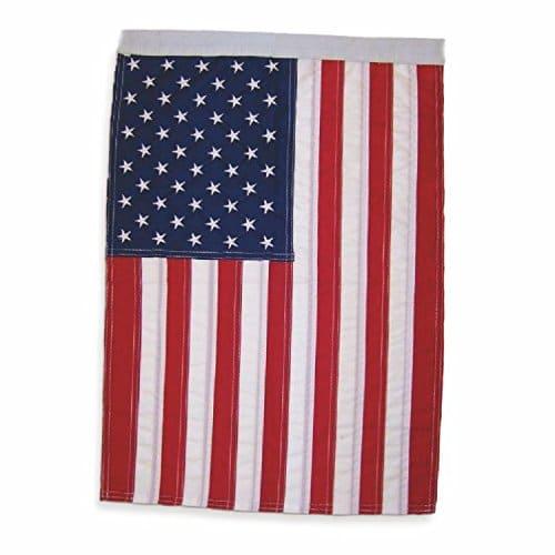 """Estrelas profissionais bordadas de elite 12 """"x 18"""" EUA bandeira de jardim, clássica, especialmente para 4 de julho decoração de jardim, listras costuradas e costura dupla"""