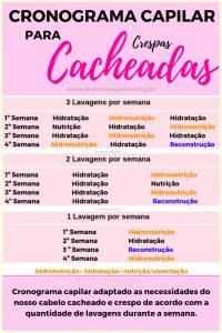 CRONOGRAMA CAPILAR PARA CACHEADAS E CRESPAS