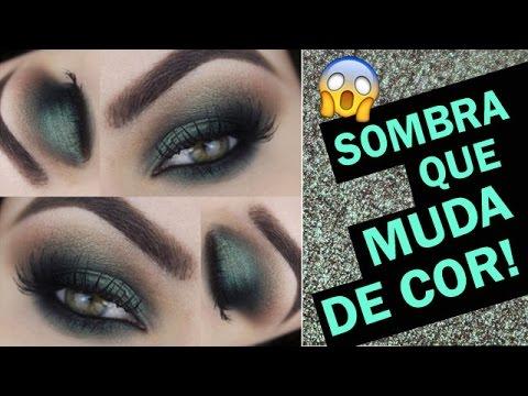 Makeup Tutorial Smokey Eyes com sombra de DUPLO EFEITO - #fazolhão