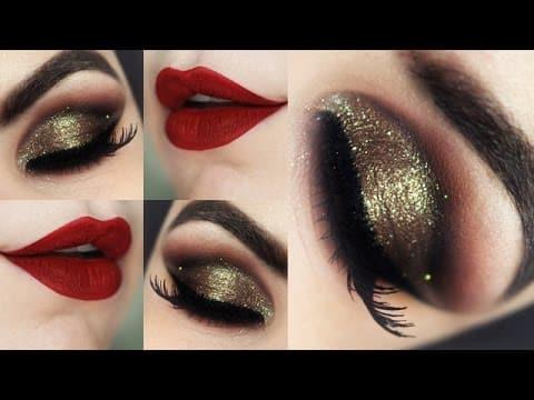 Maquiagem Luxo Natal com Produtos Nacionais - Christmas Makeup Tutorial