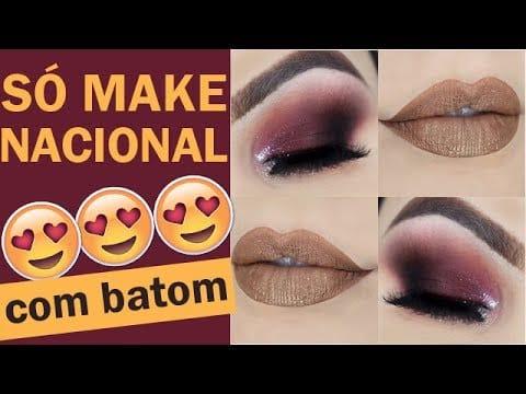 Maquiagem Burgundy ACESSÍVEL com batom líquido - Burgundy Makeup Tutorial