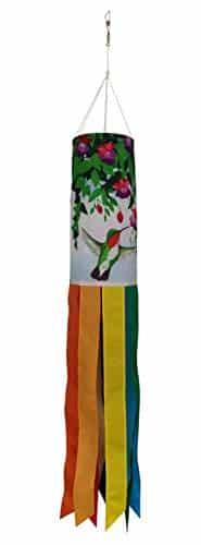 Produtos Profissionais de Elite Windsock Colibri de 40 polegadas com caudas de arco-íris