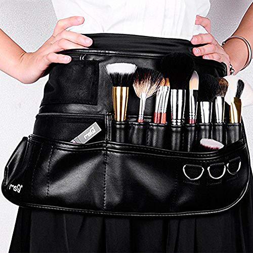 MSQ Maquiagem Escova Cinto Avental Bolsa Caso Multi Bolso Dobrável Fanny Pack Cosméticos Escova Bolsa Organizador de Titular com Alça de Cinto Ajustável para Artista Melhor para Artista / Estilista de Moda