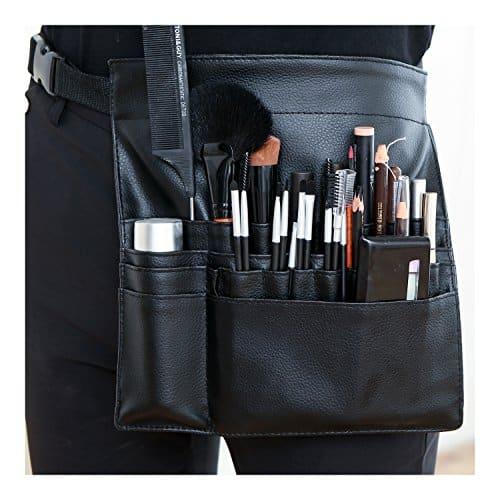 Pro Makeup Artist Cosmetic Tool Avental, Escova Cinto Acessório Organizador, Preto