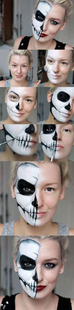20 + Fácil passo a passo Halloween Tutoriais de maquiagem para iniciantes 2018
