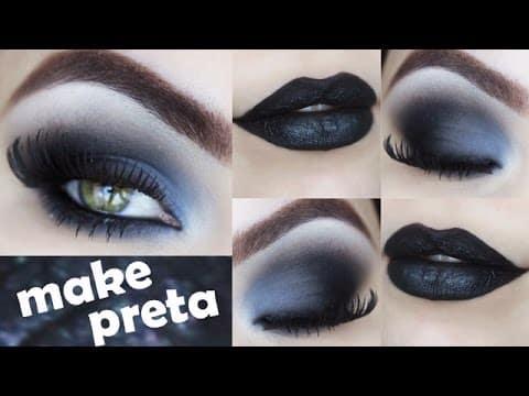 Olho esfumado Esfumado e batom Preto Cisne Negro - Makeup Tutorial Gótica Suave