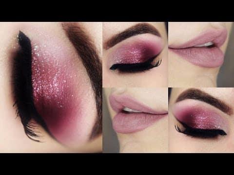 Olho Esfumado Vinho Cristalino - Christmas Makeup Tutorial