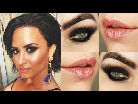 Makeup Tutorial Demi Lovato Cool for the Summer - Maquiagem Olho Preto Esfumado