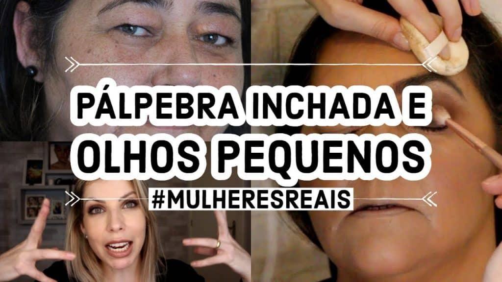 COMO MAQUIAR PÁLPEBRA INCHADA E OLHOS PEQUENOS - #MULHERESREAIS #AUTOMAQUIAGEM