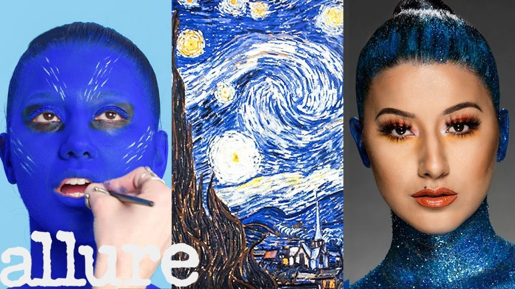 3 maquiadores transformam modelo em pintura de Van Gogh | Tomada tripla | Allure