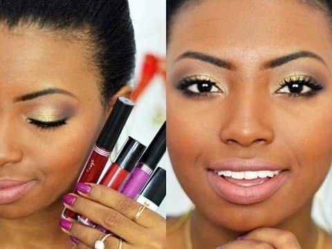 Maquiagem Festa de Fim de Ano | Uma make 4 batons