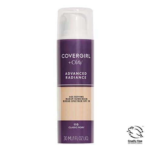 COVERGIRL Advanced Liquid Radiance Age Defying Base Líquida em marfim clássico, 1 frasco (1 oz), oculta rugas e linhas, pele sensível e segura (a embalagem pode variar)
